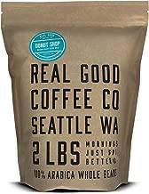 Real Good Coffee Whole Bean Coffee, Donut Shop Medium Roast Coffee Beans, 2 Pound Bag