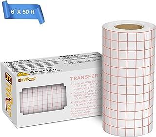 Clear Vinyl Transfer Paper Tape Roll 6