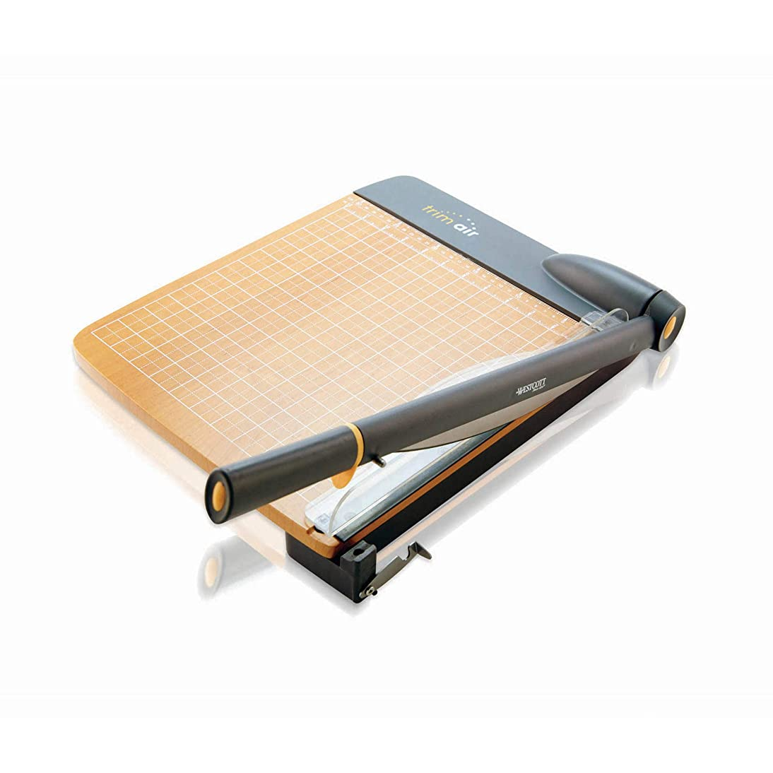 Westcott ACM15108 TrimAir Titanium Wood Guillotine Paper Trimmer with Anti-Microbial Protection, 18