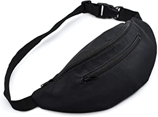 Black Fanny Pack for Men and Women - Waist Bag, Belt Bag, Waist Pack
