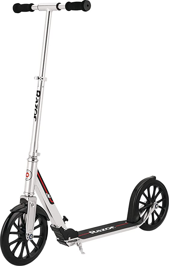 """Extra Large 10"""" Wheel - Longer Deck - Anodized Aluminum Frame & Foldable - Adjustable Handlebars - Lightweight Yet Holds Riders up to 220 lbs"""