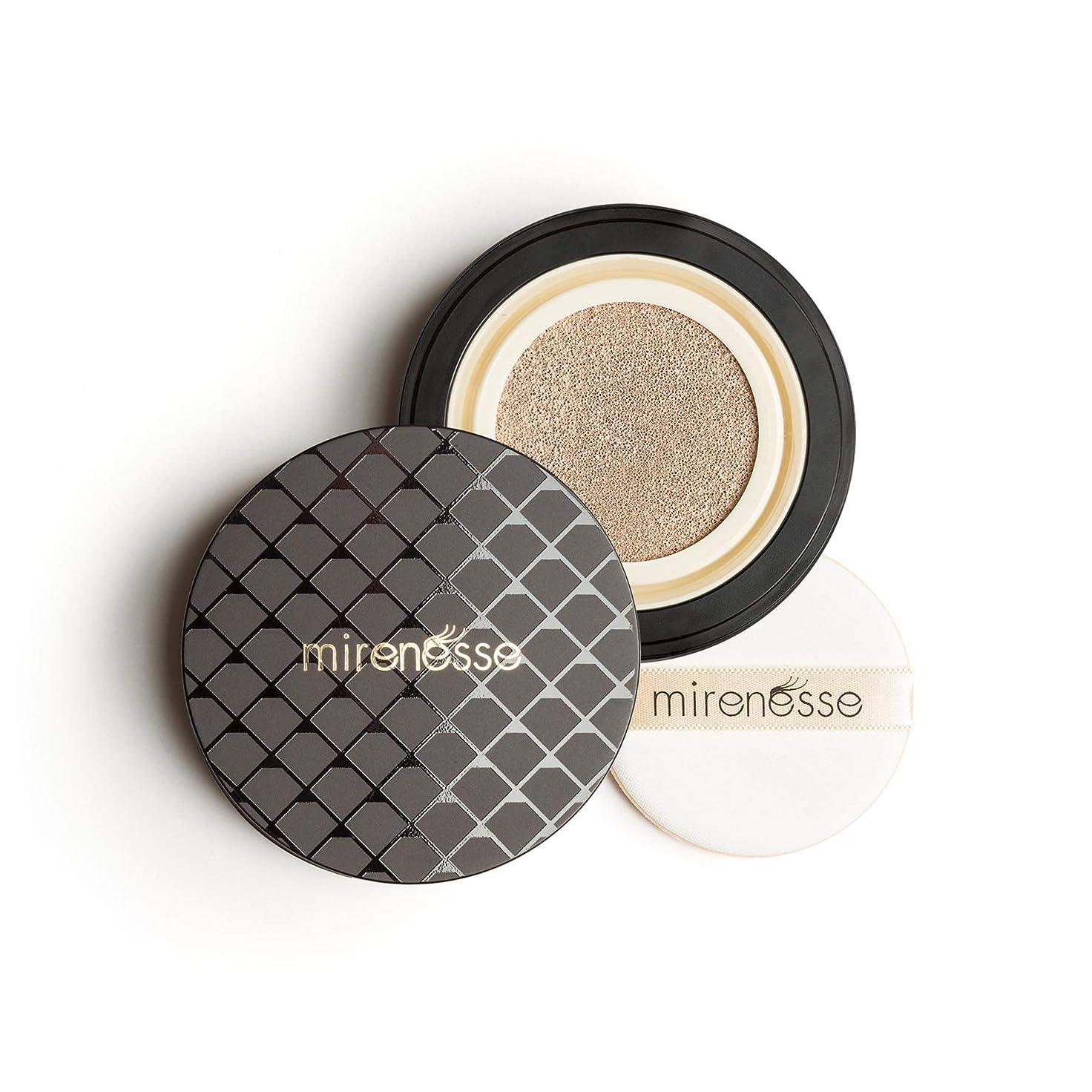遺伝的ステレオタイプ段階Mirenesse Cosmetics 10 Collagen Cushion Foundation Compact Airbrush Liquid Powder SPF25 PA++ 15g/0.52oz - AUTHENTIC (13 Vanilla)