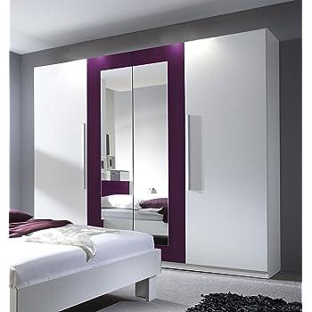 Schlafzimmerschrank Kleiderschrank Siena 169cm Pinie Weiss Wenge