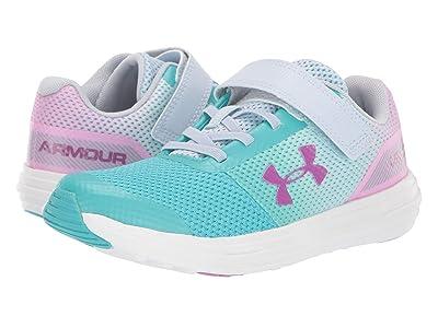 Under Armour Kids UA GPS Surge RN Prism AC (Little Kid) (Breathtaking Blue/Moonstone Blue/Optic Purple) Girls Shoes