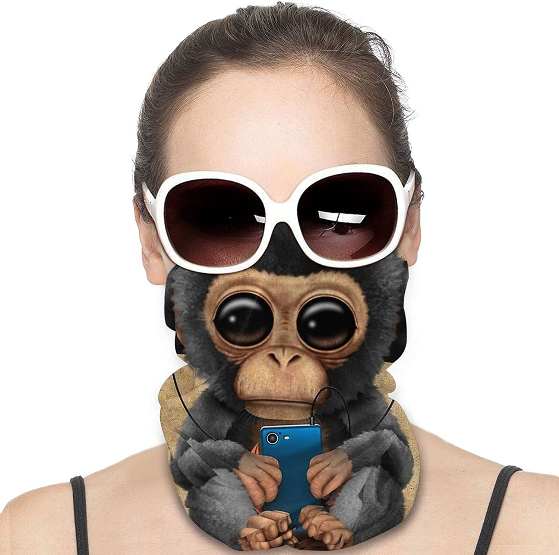 Hip Hop Monkey Neck Gaiter Windproof Face Cover Balaclava Outdoors Magic Scarf Headband for Men Women Motorcycling Fishing Running Climbing