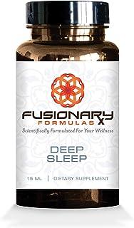 Fusionary Formulas - Melatonin Liquid Sublingual Sleep Aid Supplement – Magnesium, Melatonin, GABA and Chamomile, Fall Asl...