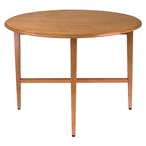 Round Wood Dining Table With Leaves Amazoncom