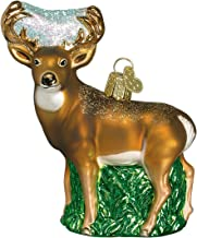 Old World Christmas Ornaments: Wildlife Animals Glass Blown Ornaments for Christmas Tree, Whitedail Deer