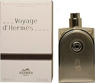Hermes Voyage D'Hermes Eau-de-toilette Refillable Spray for Unisex, 3.30-Ounce