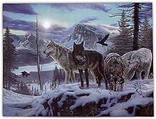 wolf running art
