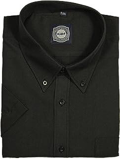 Kam Mens Big King Size New Short Sleeve Shirts in Black White Grey Pink Denim Colours