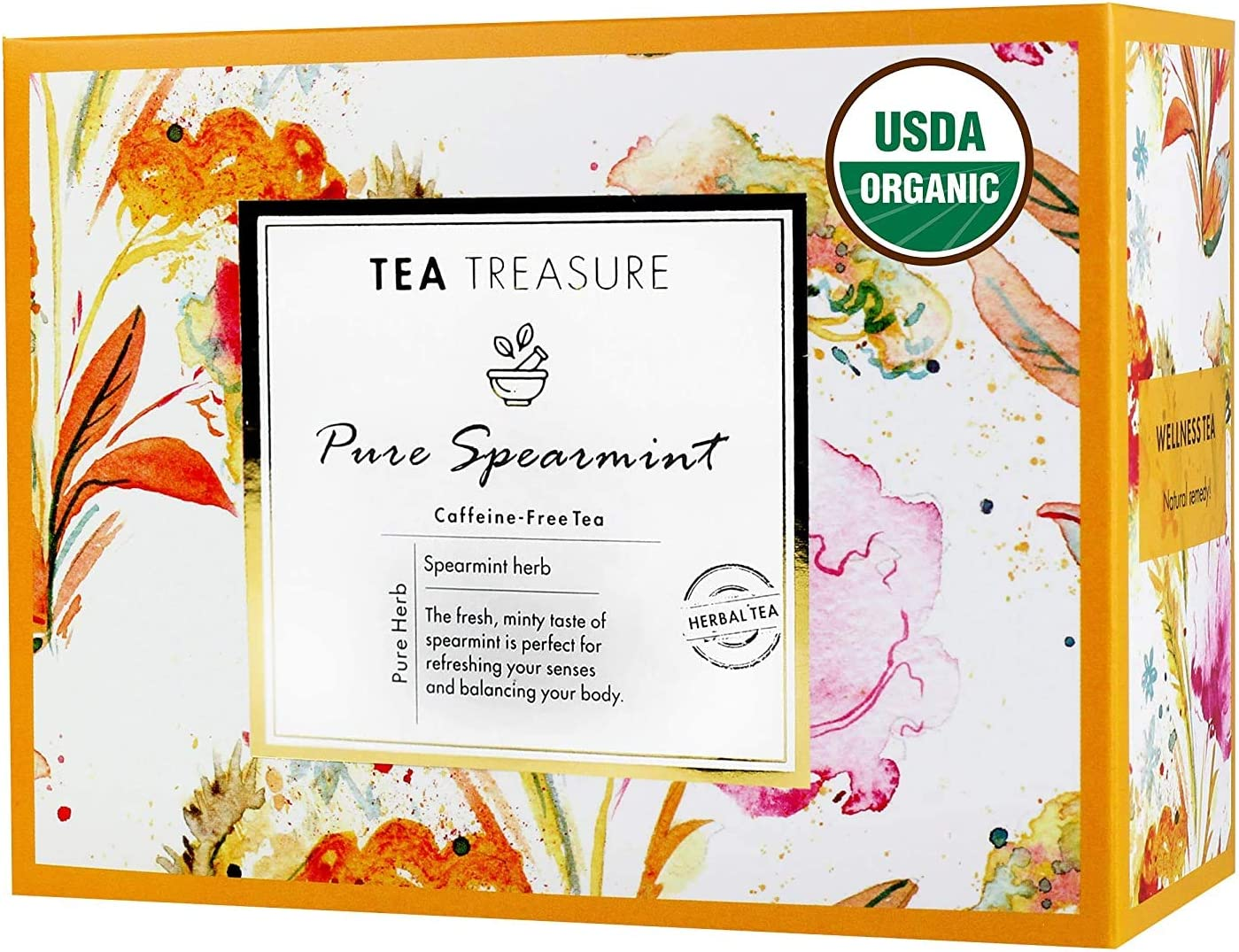 Innovita TeaTreasure Special price USDA Organic Spearmint Herbal PCOD Tea for OFFicial shop