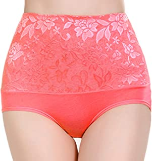 """WEBBOON Womens High Waist Cotton Briefs Underwear Tummy Control C-Section Recovery Soft Stretch Panties -Size-(X-Large)-Waist 35""""-38"""", Hip 42""""-46"""""""