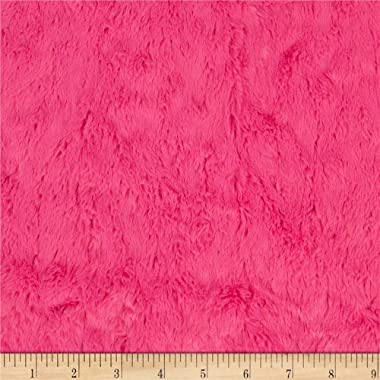 Shannon Minky Luxe Cuddle Marble Fuchsia Fabric by the Yard