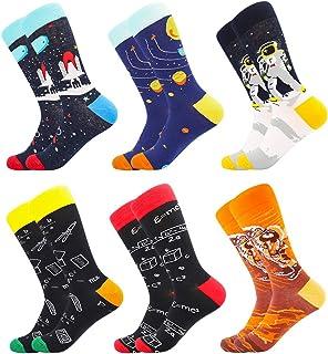 BISOUSOX Calcetines Divertidos para Hombres Calcetines de Algodón Calcetines Coloridos Calcetines Locos de Moda para Hombr...