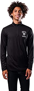 (Brooklyn Nets, X-Large) - UNK NBA Men's Quarter Zip Pullover Shirt Athletic Quick Dry Tee, Team Colour