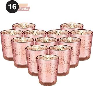 ERYTLLY Votive Candle Holders (Rose Gold 16 Packs)