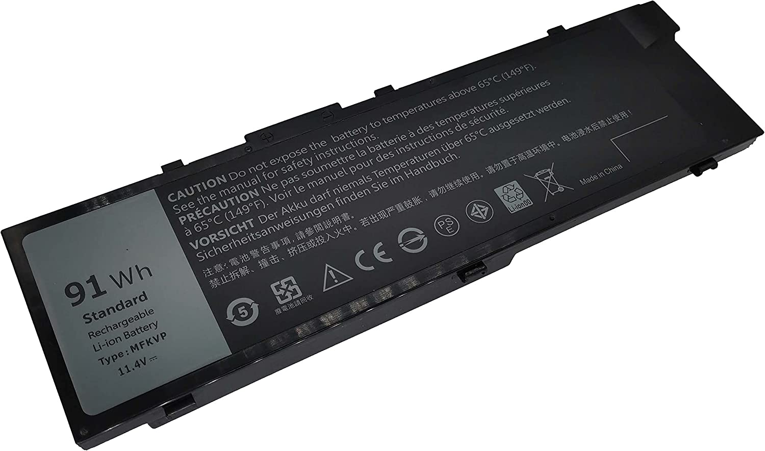 Fully MFKVP 11.4V List price 91Wh Replacement Max 53% OFF wit Battery Laptop Compatible