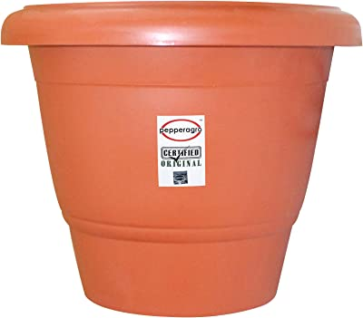 Pepper Agro Flower Pots Round Planter 18 Inch Terracotta (Set of 3)