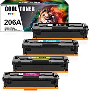 Cool Toner Compatible Toner Cartridge Replacement for HP 206A 206X W2110A W2111A W2112A W2113A Color Laserjet Pro M255dw M...