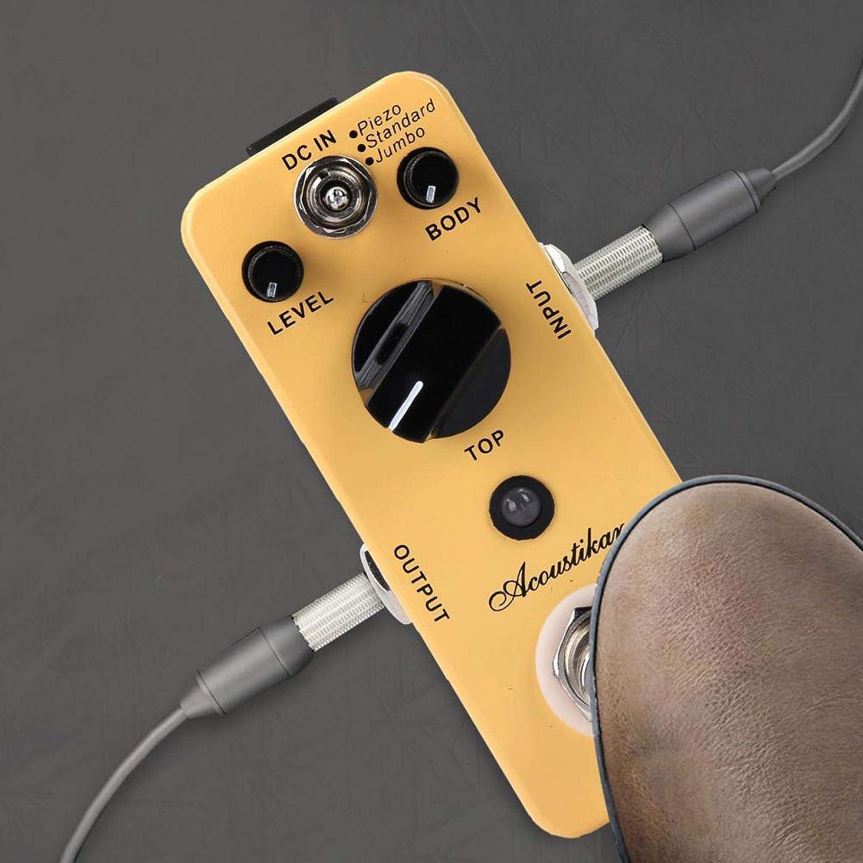 Pedal de efecto de guitarra de Bypass verdadero estable práctico Pedal de efecto de guitarra acústica para interpretación para guitarrista