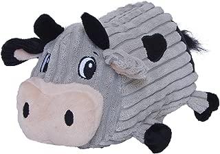 Fattiez Round Squeaky Plush Dog Toy by Outward Hound, Medium, Cow