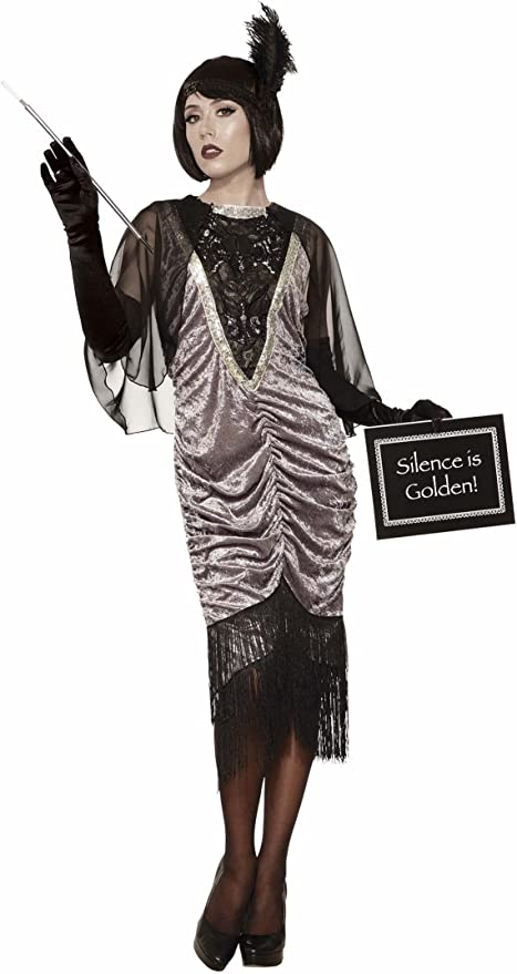 1920s Costumes: Flapper, Great Gatsby, Gangster Girl Forum Novelties Silent Movie Flapper Adult Costume  AT vintagedancer.com