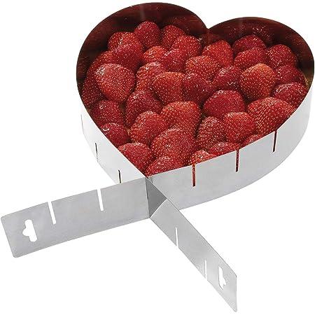 Westmark Moule/Cercle à Pâtisserie en forme de cœur, réglable, sans fond, acier inoxydable, argenté, 31342270