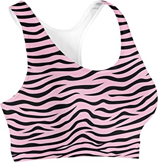 Rainbow Rules Zebra Print Sports Bra