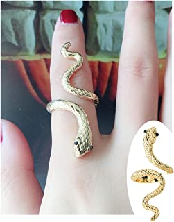 Adjustable Punk Rock Snake Ring for Women Retro Gothic Finger Jewelry Accessories