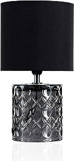 Pauleen 48015 sobremesa Crystal Glow máx. 20W E14 Lámpara para mesita de Noche Gris y Negro Metal/plástico sin Bombilla