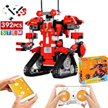 ritastar APP Remote Control Robot Building Blocks Creative Toolbox Educational Smart Tracked RC Robotics Building Bricks Set Kit STEM Learning Toy Gift for Boys Girls Kids 6-14 Years Old(Red,392pcs)