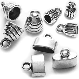 Heather's cf Silver Cordend caps Leather Cord Ends Mixed CordforJewelryMaking 90pcs