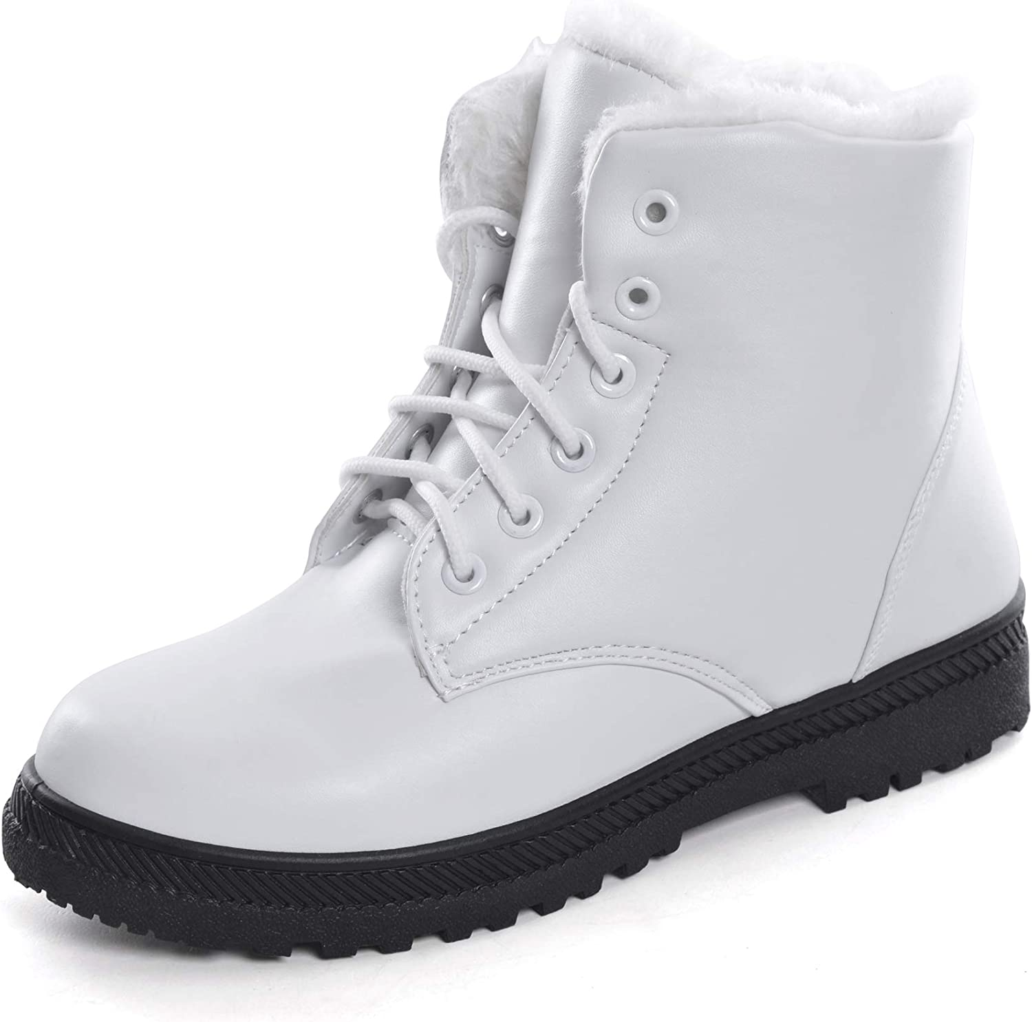Yellow Tree Company Women Winter Snow Boots Fur Sneakers shoes Lace-up Flat Platform Ankle Booties Boots