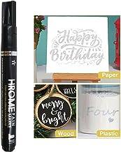 PETSBURG SilverArt Liquid Mirror Chrome Marker, Vloeibare Spiegel Chrome Marker voor op elk oppervlak, metaal, glas, hout,...