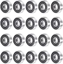 uxcell 607RS 7mmx19mmx6mm Double Sealed Miniature Deep Groove Ball Bearing 20pcs
