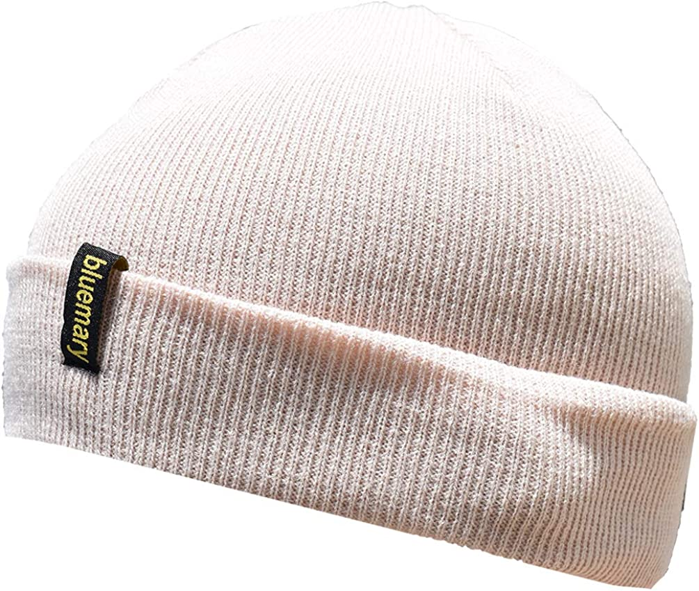 Bluemary Soft Beanie Hat for Women and Men Winter Stretch Cable Knit Warm and Windproof