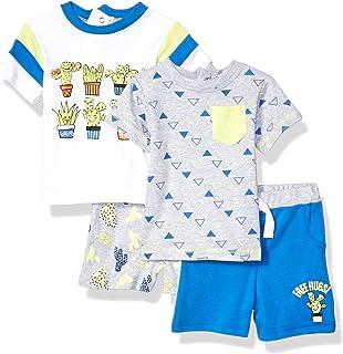 QUILTEX - Juego de 2 Camisetas y 2 Pantalones Cortos, 4 Piezas