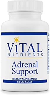 Vital Nutrients - Adrenal Support - Suitable for Men and Women - Supports Adrenal Gland Function, Supports Mild Stress and Anxiety, and Promotes a Healthy Immune System - 60 Capsules per Bottle