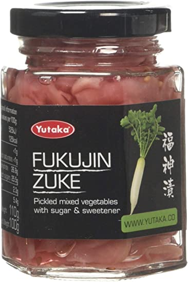 Yutaka Japanese Style Pickles Fukujinzuke Vegetables Pink Radish Mix 110g Pack Of 6 Amazon Co Uk Grocery