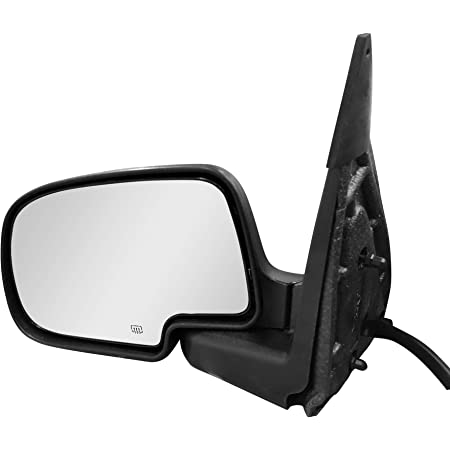 OE Style Replacement Side Mirrors for 2003-06 Chevy Silverado//Tahoe//Suburban//Avalanche//GMC Sierra 1500 Powered Black Heated Left Side Only