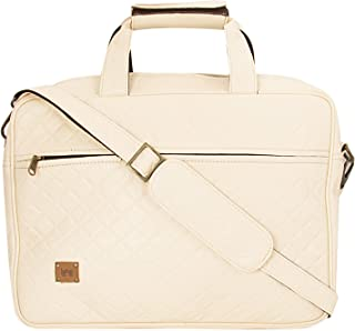 Enew Classic Leatherite Laptop Messenger Bag 14Inch 8Ltr Briefcase Type Professional Use Laptop Bag with Laptop Sleeve (IV...