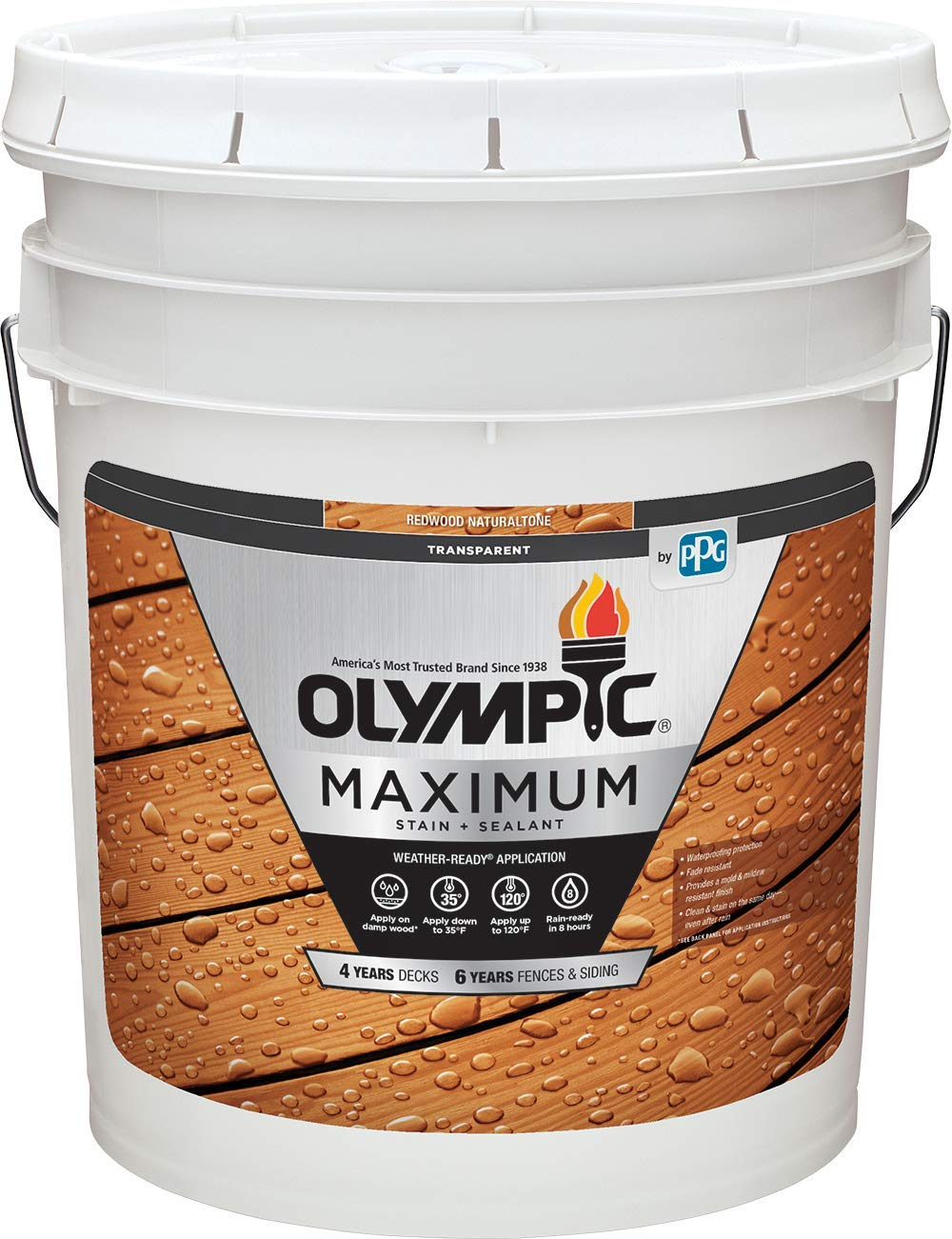 Olympic Stain 56504-5 Louisville-Jefferson County Mall Maximum Wood and Sealer 5 Gallons At the price of surprise