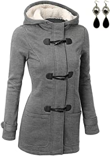 BUOYDM Abrigos para Mujer Casual Sudadera con Capucha Chaqueta Jacket Pullover Outwear para Primavera Otoño Invierno