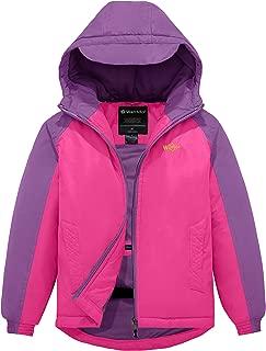 Wantdo Girl's Hooded Ski Jacket Spring Windproof Fleece Winter Rain Coat