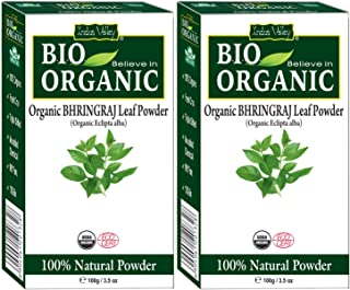 Indus Valley -100% Organic and Natural Bhringraj Powder for Skin and Hair Care (200 gm)