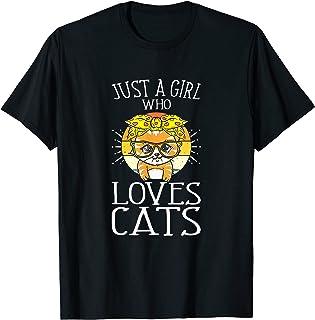 Juste Une Fille Qui Aime Les Chats Chaton Amoureux Des Chats T-Shirt