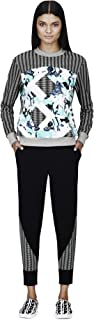 Peter Pilotto® for Target® Sweatshirt -Light Blue Floral/Stripe Print S M L