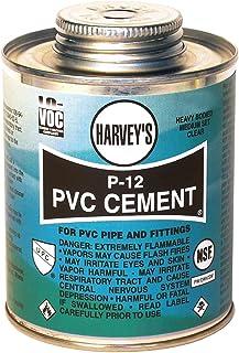 Harvey 018220-12 Heavy Bodied Medium Set Solvent Cement, 16 Oz, Dauber Can, Liquid, 16-Ounce, Clear