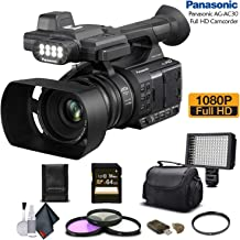 Panasonic AG-AC30 Full HD Camcorder (AG-AC30PJ) with 64GB Memory Card, LED Light, Case, Telephoto Lens, and More - Advanced Bundle